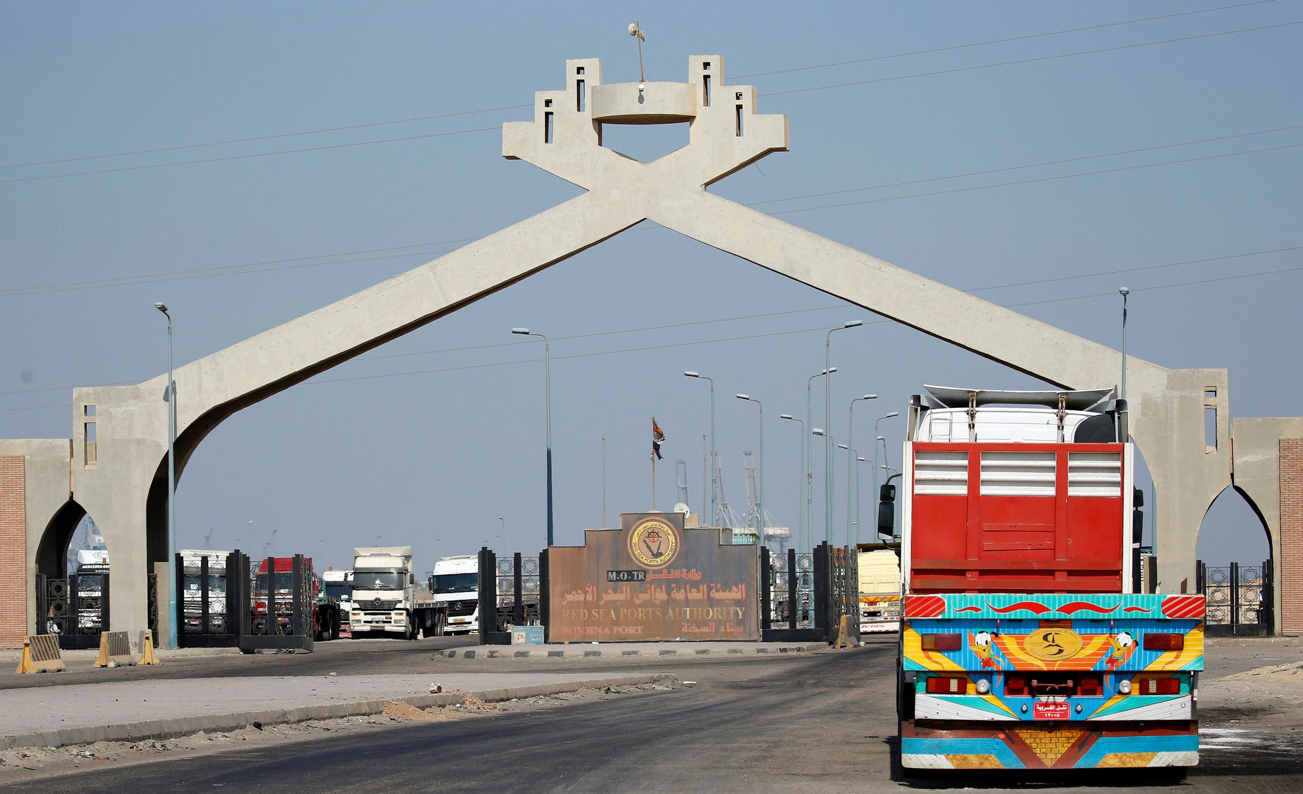 مدخل ميناء العين السخنة بمصر
